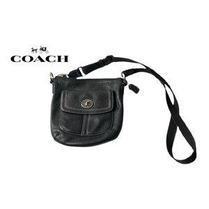 Coach Mini Black Leather Crossbody Purse